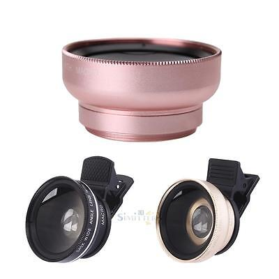 2 in1 Clip-on Phone Wide Angle Macro Camera Lens for iPhone for Samsung Sony HTC
