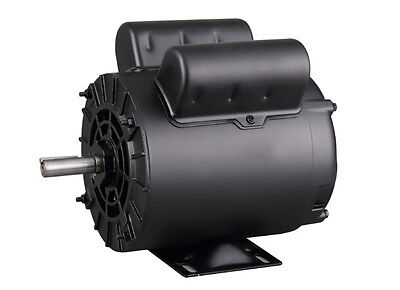 "2HP SPL Air Compressor Electric Motor, 5/8"" Shaft, 1ph, 115/230V, 56,ODP"