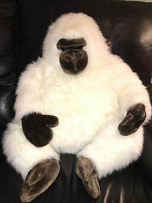 Large Plush White Gorilla Ape 35""