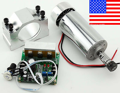 CNC Router 0.4KW Air Cooling Spindle Motor ER11 & Mach3 PWM Controller & Mount