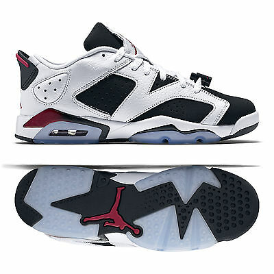 d3c96c589df NIKE AIR JORDAN 6 Retro Low GG 768878-107 White/Sport Fuchsia/Black Kids'  Shoes