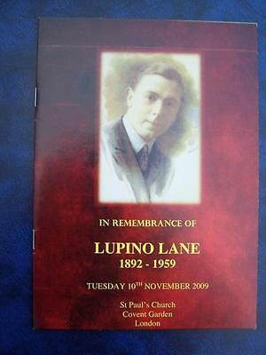 Lupino Lane - Remembrance  Service program - Social History - Ephemera