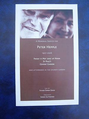 Peter Hepple - Thanksgiving  Service program - Social History - Ephemera