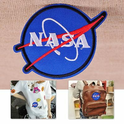 2 PCS NASA Embroidered Patch Applique Badge Sew Iron On Bag Jeans Clothes Decor