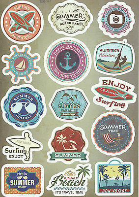 Sticker Decal Sticker Set Travel Mix (4) - Ideal for Suitcase, Laptop