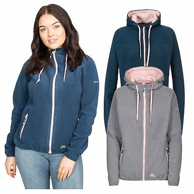 Trespass Azina Womens Full Zip Casual Hooded Jumper Breathable Warm Soft Fleece