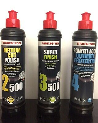 Menzerna Pack Medium 2500 Super Finish 3500 with Power Lock Ultimate Protection