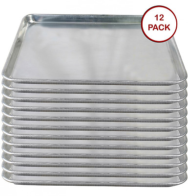 Tiger Chef Full Size Aluminum Sheet Pan - Commercial Bakery Equipment Cake Pans