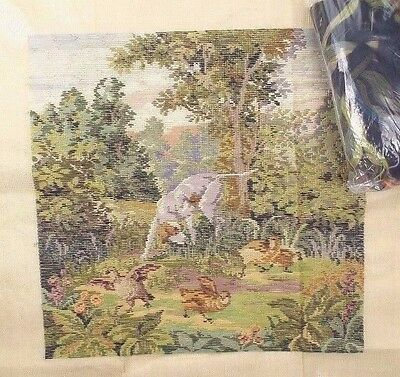 "OOE Preworked Tramme Tramé Needlepoint Canvas Kit 19"" x 19"" - Nature Landscape"