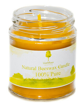 Handmade 100% Natural Beeswax Candle, Anti-Hayfever / Allergy - 475ml Glass Jar