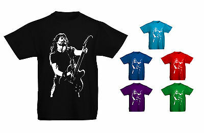 Kids Childrens Dave Grohl Foo Fighters Iconic Rock T-shirt Sizes Age 5 to 13