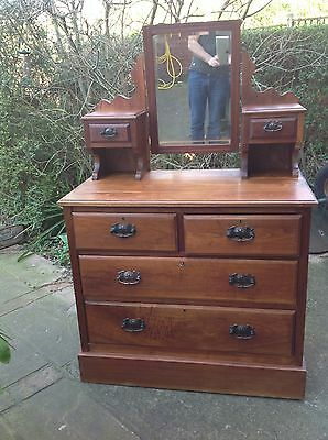 Antique,Vintage,Edwardian Dressing Table/chest Of Drawers