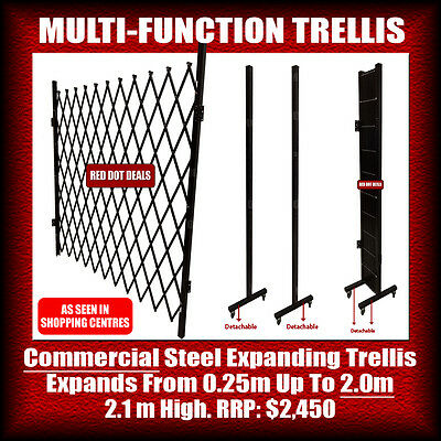 2m MULTI-FUNCTION EXPANDABLE STEEL TRELLIS/BARRIER/BARRICADE/GATE/FENCE. 2m High