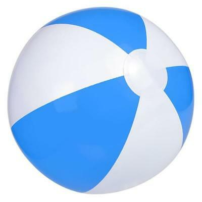 Inflatable Blue And White Beach Ball - Cool Kids Beach Pool Party Novelty Toy