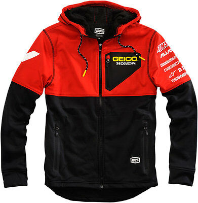 100% GEICO Honda Officially Licensed TECHNIQUE Soft Shell Jacket (Choose Size)