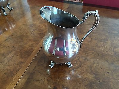 F B Rogers Silverplate on Copper Water Pitcher with Ice Lip #3707