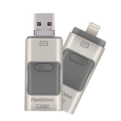 128GB 3 in1 USB Memory Stick i Flash Drive U Disk for Android/IOS Iphone PC