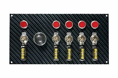 Moroso Dash Mount Switch Panel 7-3/4 x 4 in Carbon Fiber Look P/N 74139