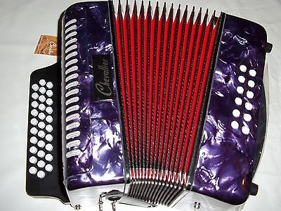 Accordeon D'etude Diatonique Chevallier 12 Basses Violet - Neuf - Garantie 1 An