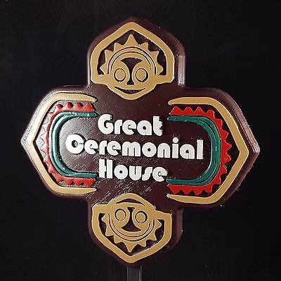 Polynesian Themed Sign - Great Ceremonial House!!!! (Disney Inspired Prop)