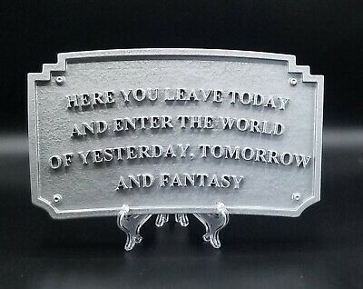 Magic Kingdom DL Entranceway Plaque Inspired Sign - Silver Shade