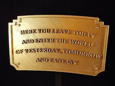 Magic Kingdom DL Entranceway Plaque Inspired Sign - Gold Shade