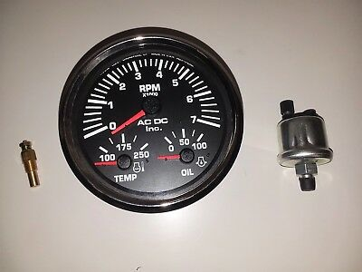 Yanmar Marine Engine Panel, Fully Wired, 4K Tach, Black Gauge with Harness