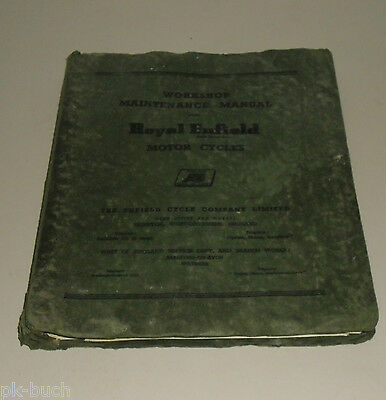 Workshop Manual Royal Enfield 350 / 500 Bullet / Trail / Clipper Stand 1961