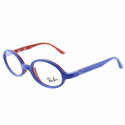 8877e76392 Ray-Ban RY 1545 3703 Blue On Rubber Red Plastic Oval Childrens Eyeglasses  44mm