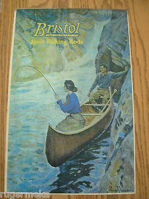 Rare Philip Goodwin Original Bristol Steel Rod Poster