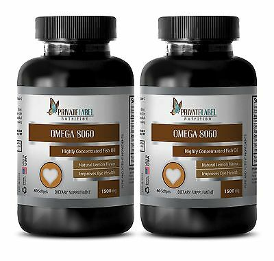 Fish oil Omega 3 burpless Omega 8060 HIGHLY CONCENTRATED essential fatty aci 2B