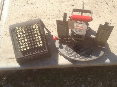Vintage Office Elliot Addresserette Label Machine + Burroughs Adding Machine