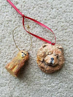 CHOW CHOW ORNAMENT,  Resin, Hanging or Free Standing
