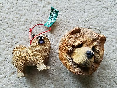 CHOW CHOW ORNAMENTS,  Resin, Hanging or Free Standing