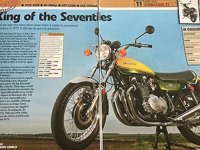 Kawasaki Z1 # Classic Bike Dossier # 10 Page Original Motorcycle Article