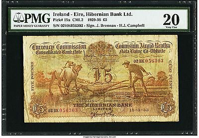 Ploughman 5 Pounds .pmg 20 .ireland -The National Bank Of Ireland 1933