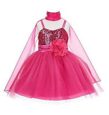 New Wedding Pageant Sequin Flower girl dress Toddler Bridesmaid Summer SH1508NF