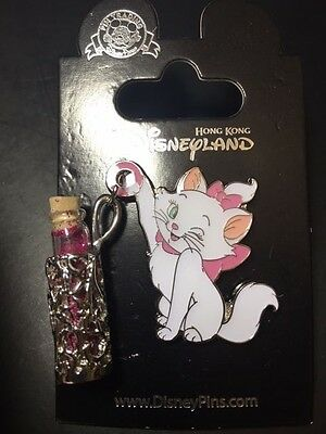 Hong Kong Disneyland Disney Hkdl Pin Marie Cat Vial of Magic Dust Pin 107359