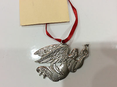 NEW House of Morgan Pewter Flying Angel Christmas ornament, Hand Cast in NC