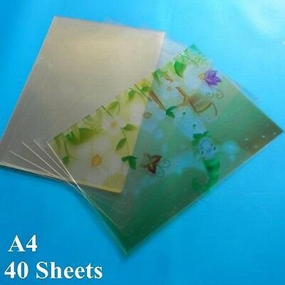 A4 Transparent Inkjet Film Paper Screen Printing Print Stencil Design 40 Sheet