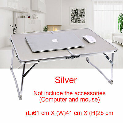Outdoor Picnic Home Bedroom Foldable Portable Table Aluminum Alloy Silver 30KG