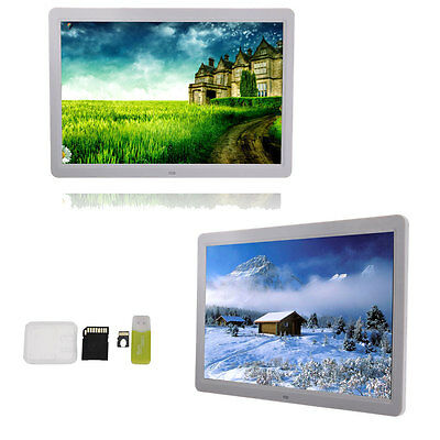 """Digital Photo Frame 15"""" LED Screen with Remote Controller + 8GB TF Card"""