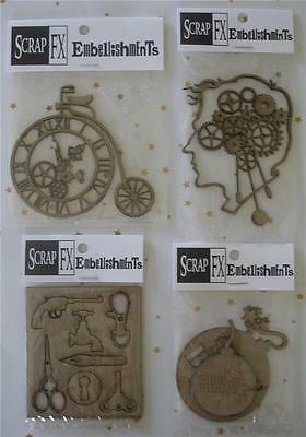 U Choose Steampunk Chippies ~ Mechanics of Man Time Bomb Penny Farthing Findings