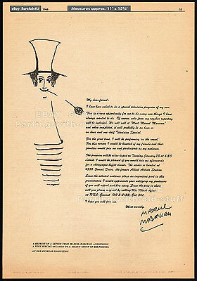 Meet MARCEL MARCEAU__Original 1966 Trade AD promo / TV special anncmnt. from MM