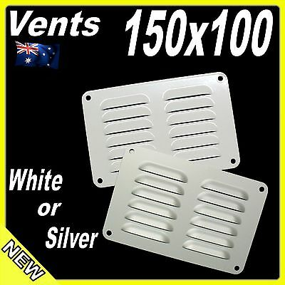 Aluminium Air Vent 150 x 100mm White or Silver