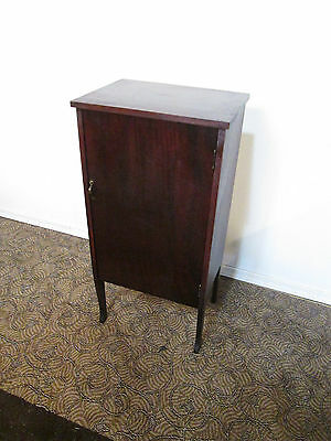 57844  Antique Mahogany Sheet Music Cabinet Stand