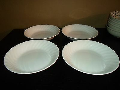 "(4) Tuscan WHITECLIFFE 7 3/4"" Soup Bowls  England"