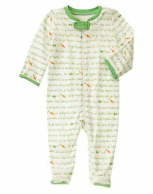 NWT Gymboree Brandnew Baby Carrot and Peas Sleeper Girl SZ 6-9 months