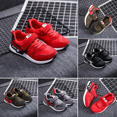 New Kids Boys Girls Teens Sports Shoes Strip Running Breathable Shoes Sneakers
