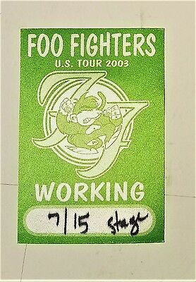 "vtg (2003) THE FOO FIGHTERS ""@ the Paramount SEATTLE"" All Access PASS Music"